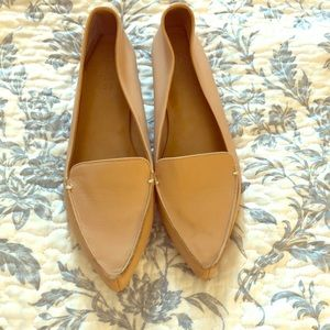 JCrew Leather beige loafers